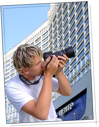 Алексей Слизков фотографирует город